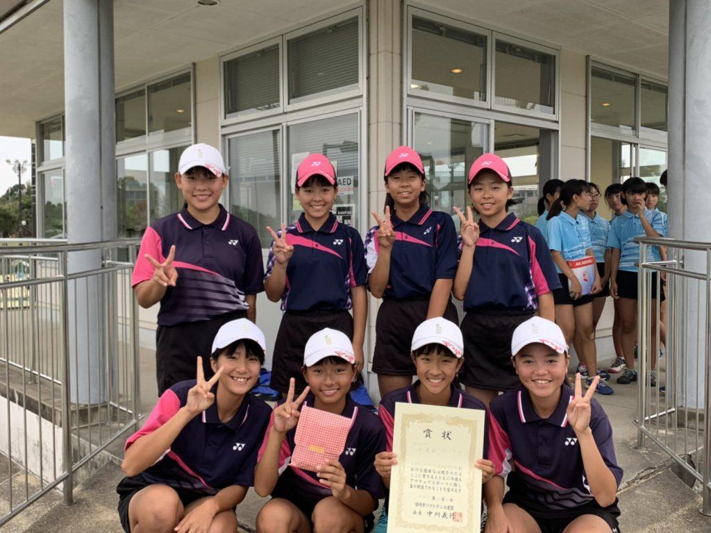 準優勝 坂ノ市中学校(大分)