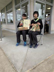 B級女子 優勝 日高・木村(加納中)